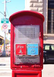 Emergency box. On the street in New York City Royalty Free Stock Image