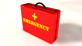 Emergency briefcase Royalty Free Stock Photos