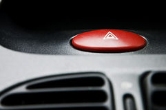 Emergency button. Car emergency red lights button Stock Image