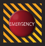 Emergency Button. An emergency button, maybe inside a factory or nuclearn plant Royalty Free Stock Images