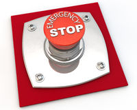 Emergency Button. Emergency Stop button over white background Royalty Free Stock Photography