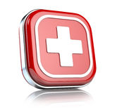 Emergency button. On white background Royalty Free Stock Photography