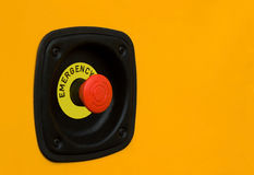 Emergency button Royalty Free Stock Photos