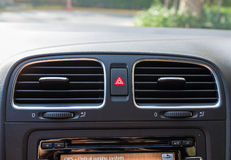 Emergency Button. In car dashboard Stock Photography