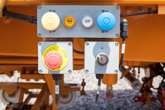 Emergency button on control panel Royalty Free Stock Photography