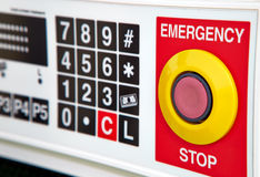 Emergency button Stock Image