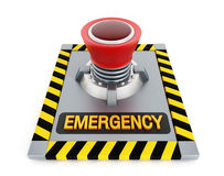 Emergency button. Isolated on white background Royalty Free Stock Image