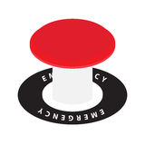 Emergency button. Vector emergency red launch button on white Royalty Free Stock Image