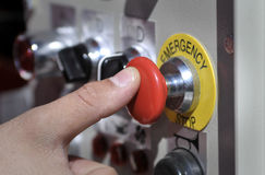 Emergency button Stock Images