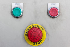 Emergency button Stock Photo