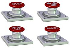 Emergency buttons Stock Image