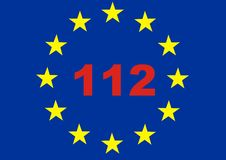 Emergency call 112 for EU crise Royalty Free Stock Image