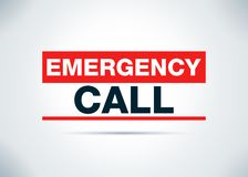 Emergency Call Abstract Flat Background Design Illustration vector illustration