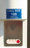 Emergency call box Stock Images