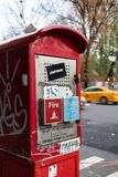 Emergency call box royalty free stock images
