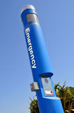 Emergency Call Box Station. At Unmanned Fueling Station Stock Image