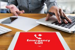 Emergency Call Center Service Urgent Accidental Hotline medical. Service royalty free stock photos