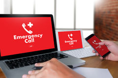 Emergency Call Center Service Urgent Accidental Hotline medical. Service Stock Photos