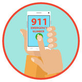 Emergency call. Flat design, vector illustration, vector royalty free illustration
