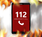 Emergency call 112. Graphic illustration Stock Photos