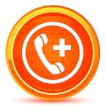 Emergency call icon natural orange round button stock illustration