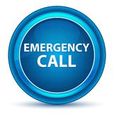 Emergency Call Eyeball Blue Round Button royalty free illustration