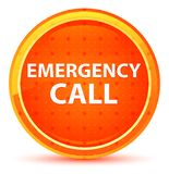 Emergency Call Natural Orange Round Button stock illustration