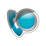 Emergency call line. Icon  illustration graphic design Royalty Free Stock Photography