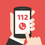 Emergency call number 112 - concept. It can be used for a website, mobile application, presentation, corporate identity design, wherever you decide that you need royalty free illustration