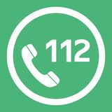Emergency call number 112 flat design vector icon. Web button in eps10. Emergency call number 112 flat design vector icon. Web button in eps 10 stock illustration