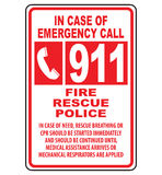 Emergency 911. Call number sign (FIRE, RESCUE, POLICE Royalty Free Stock Photography