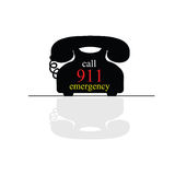Emergency call phone vector illustration. Emergency call phone vector art illustration on white Stock Images