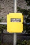 Emergency callbox in New York stock photos