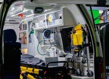 Emergency car interior the rescue of life stock photos