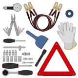 Emergency car kit. Color Stock Photos