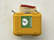 Cardiac defibrillator. Emergency  Royalty Free Stock Image