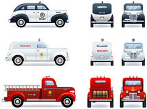 Emergency cars Stock Photo