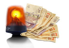 Emergency cash flow Royalty Free Stock Image