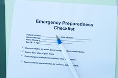 Emergency checklist Royalty Free Stock Image