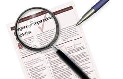 Emergency Checklist Royalty Free Stock Photography