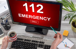 Emergency concept on a computer. Screen royalty free stock photos