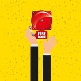 Emergency concept  design. Emergency concept design, fire alarm,  illustration eps10 graphic Stock Image