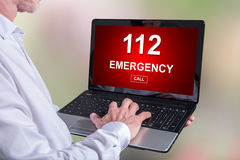 Emergency concept on a laptop Stock Images