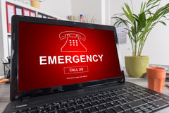 Emergency concept on a laptop Stock Image