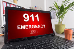 Emergency concept on a laptop Stock Photography