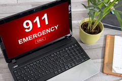 Emergency concept on a laptop Stock Photos