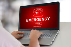 Emergency concept on a laptop Royalty Free Stock Photos