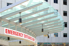 Emergency Department Sign. Emergency Entrance sign in a new hospital royalty free stock images