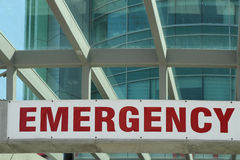 Emergency Department Sign Stock Image