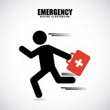 Emergency design Stock Image